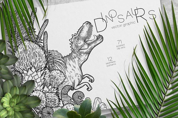 Graphic Dinosaurs Coloring Pages