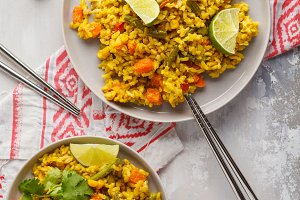 Vegetarian curry rice