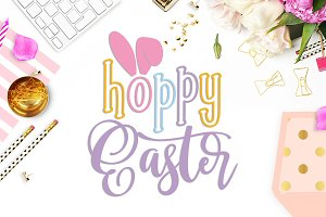 Hoppy Easter SVG DXF PNG EPS