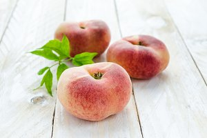 Saturn peaches or UFO, donut, flat peaches
