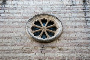 round window of the old Church in Montenegro