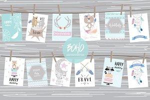 12 cute lovely design boho cards6#