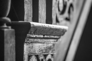 Staircase in B&W