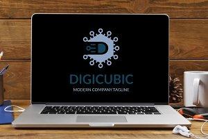 Digicubic Letter D Logo