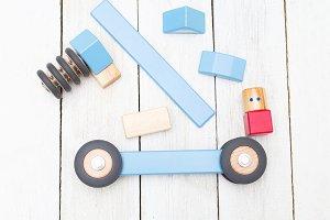 Organic wooden kids toys