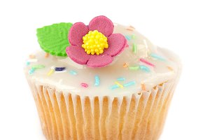 Cupcake with sugar frosting