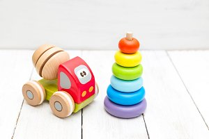Ecological wooden toys for baby