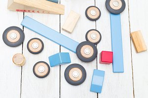 Organic wooden toys for kids.