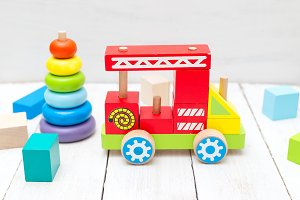 Ecological wooden toys.