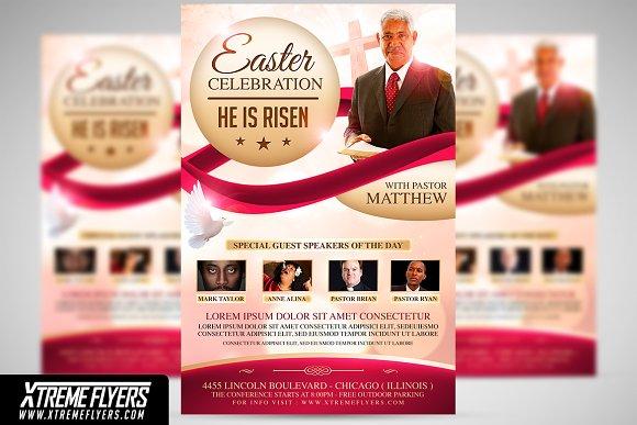 Easter Celebration Flyer Flyer Templates Creative Market