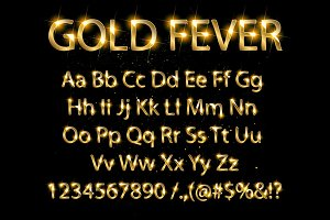 Golden and silver English alphabet