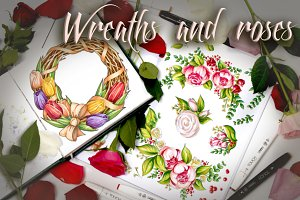 Wreaths and roses + bonus