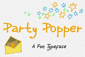 Party Popper - A Fun Typeface