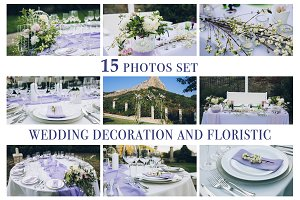 15 photos set of wedding decoration