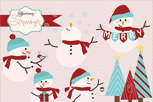 Snowmen clipart and Paper