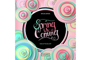 Spring sale banner