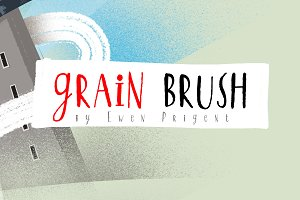 Grain Brush - Vintage Texture - Ink
