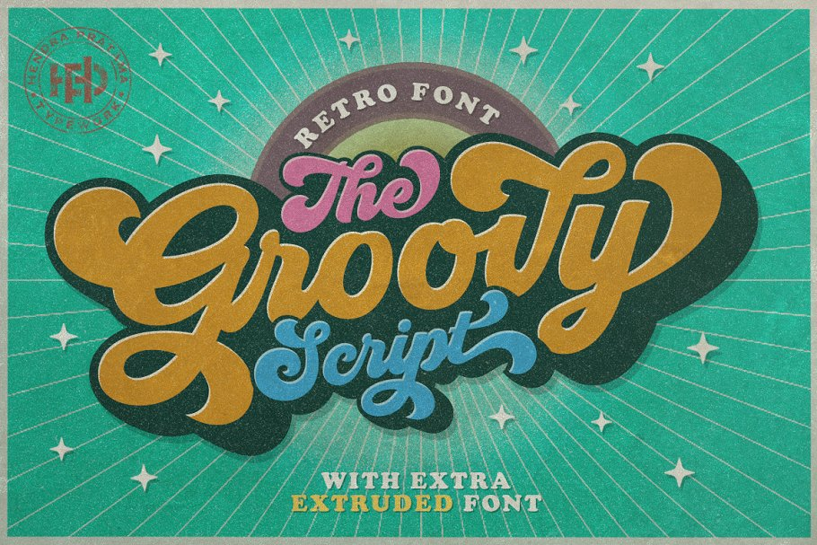 Groovy - Retro Font in Script Fonts - product preview 12