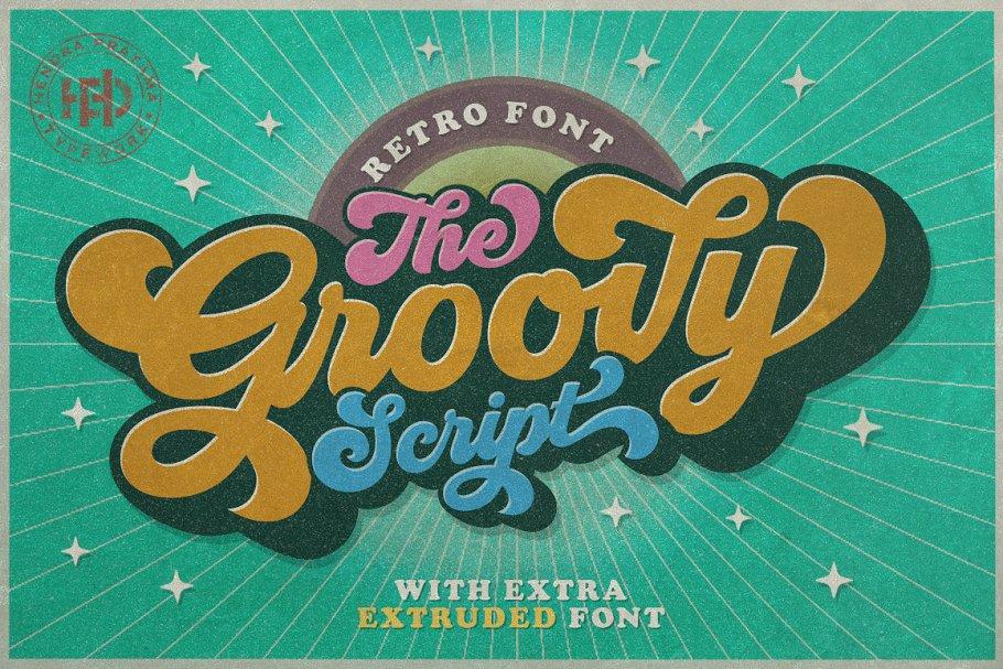 Groovy - Retro Font ~ Script Fonts ~ Creative Market