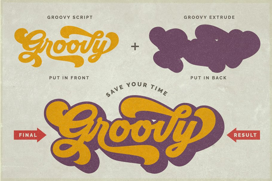 Groovy - Retro Font in Script Fonts - product preview 13