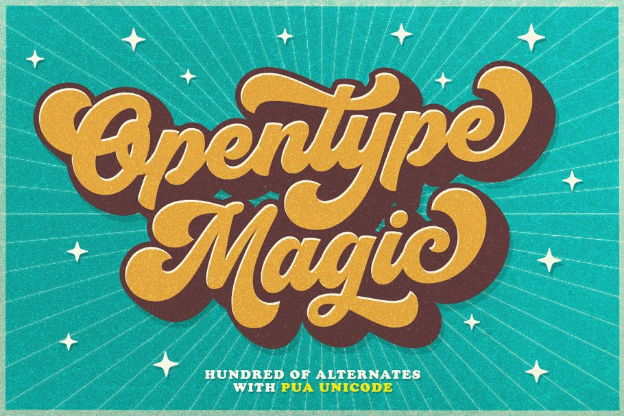 Groovy - Retro Font in Script Fonts - product preview 11