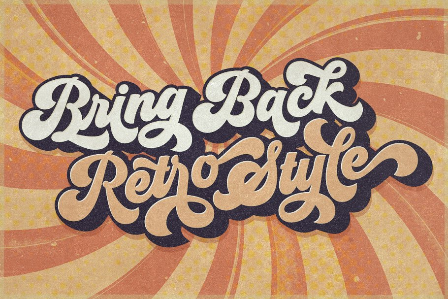 Groovy - Retro Font in Script Fonts - product preview 6