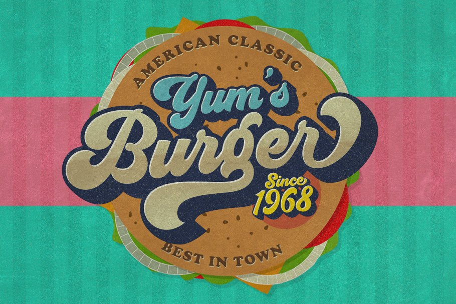 Groovy - Retro Font in Script Fonts - product preview 4