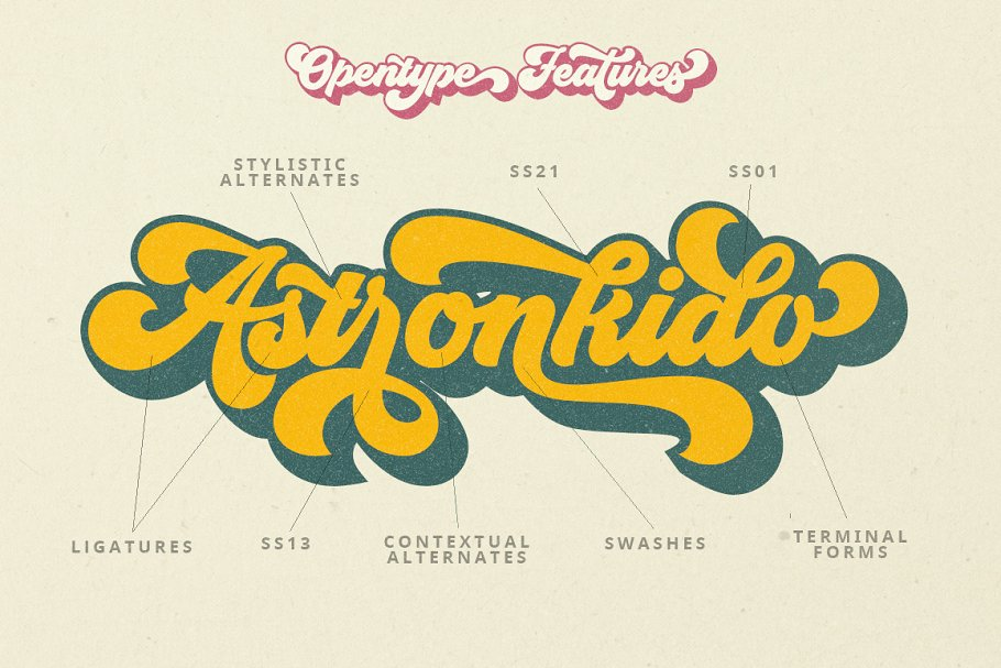 Groovy - Retro Font in Script Fonts - product preview 8