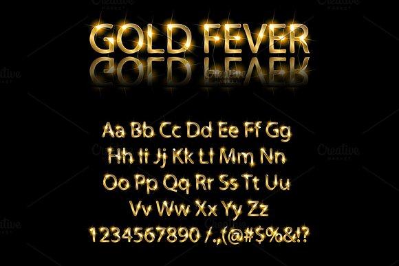 Golden And Silver English Alphabet