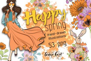 Happy Spring Hand Drawn Kit