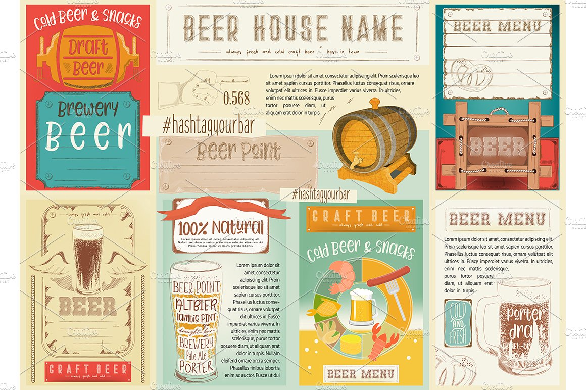 Beer Placemat Illustrations Creative Market
