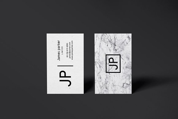 James Marble Business Card Template