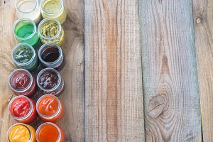 Assortment of sauces