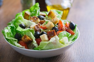 Mediterranean mixed salad