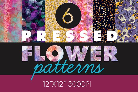 6 Pressed Flower Patterns