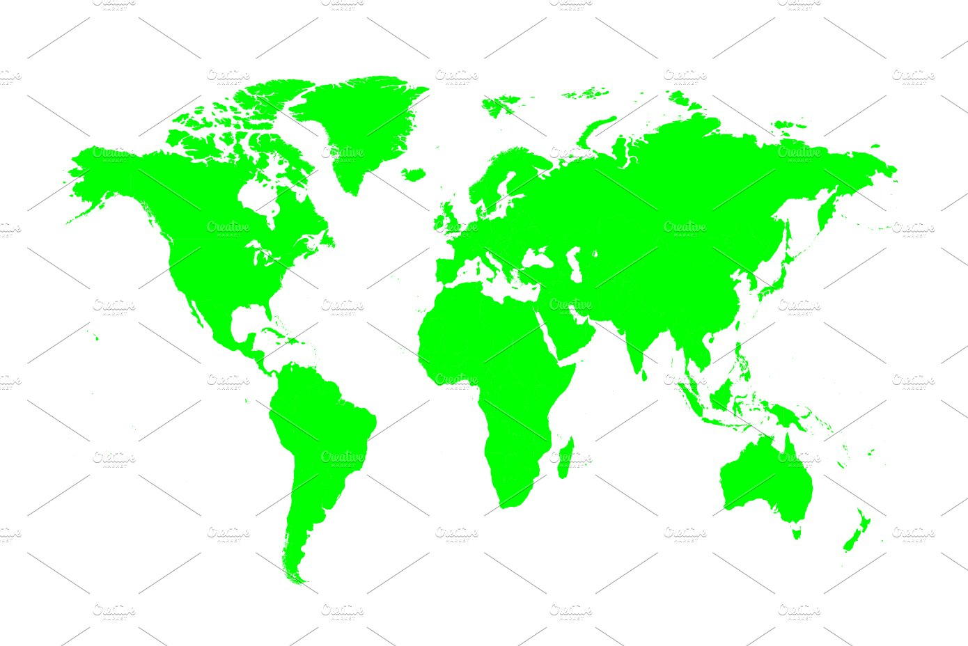 Topographic world vector map illustrations creative market world map green isolated gumiabroncs Choice Image