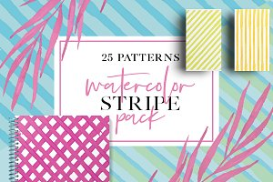 Watercolor Stripe Pack