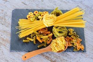 Tie of spaghetti and tagliatelle III