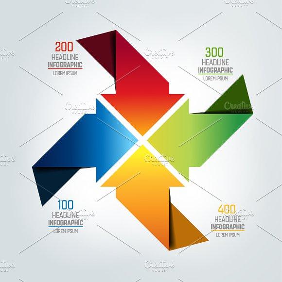 Four Arrows Infographic