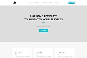 Onepage PSD fully editable template