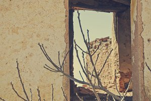 window of an abandoned house