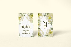 Holly Floral Business Card Template