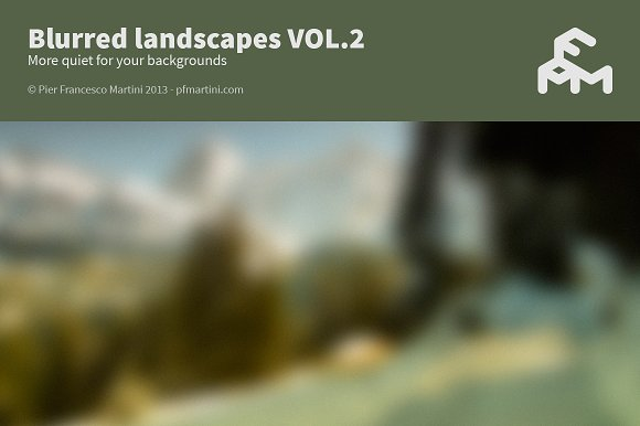 Blurred landscapes VOL.2 - Textures