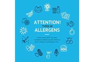 Allergens Types Infographics Banner