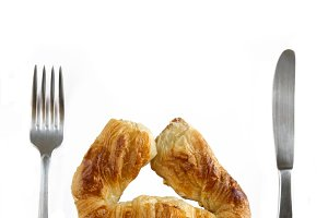 croissant knife and fork
