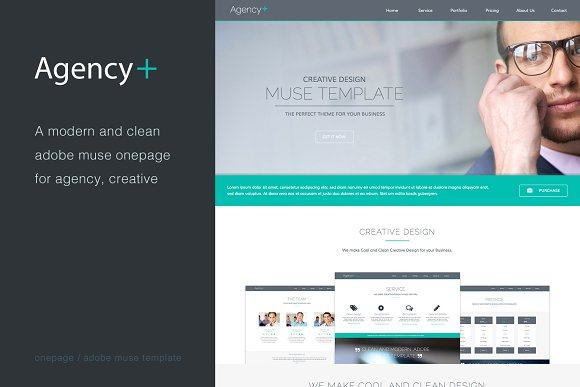 AgencyPlus One Page Muse Template