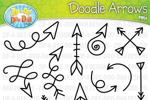 Doodle Arrows Clipart Set 2