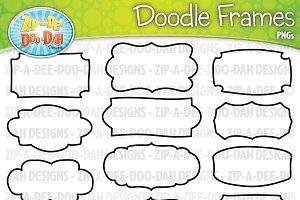 Doodle Frames Clipart Set