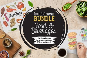 Food & Drink Hand Drawn Bundle