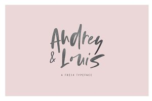 Audrey and Louis | A Fresh Typeface